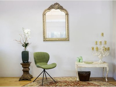 Paris - Spiegel mit silbernem Barock-Rahmen