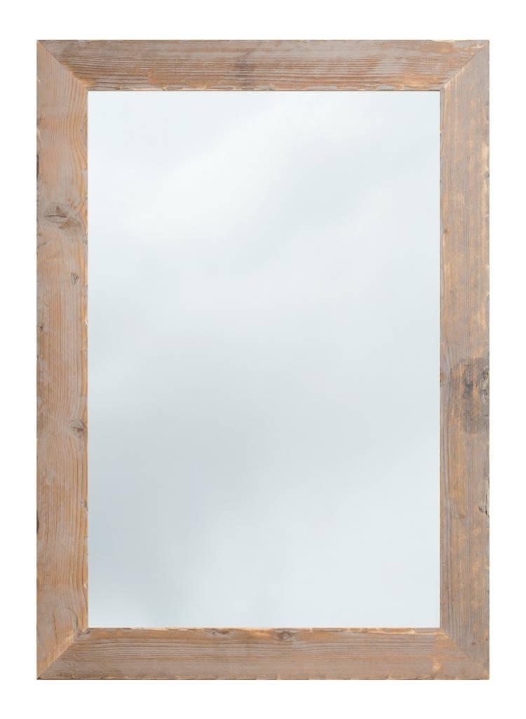 wood spiegel mit ger stholzrahmen geschmirgelt. Black Bedroom Furniture Sets. Home Design Ideas