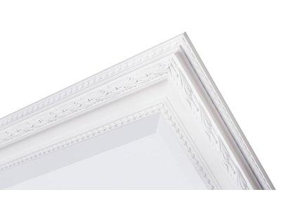 Pizzo Italienischer Spiegel mit weißem Holzrahmen