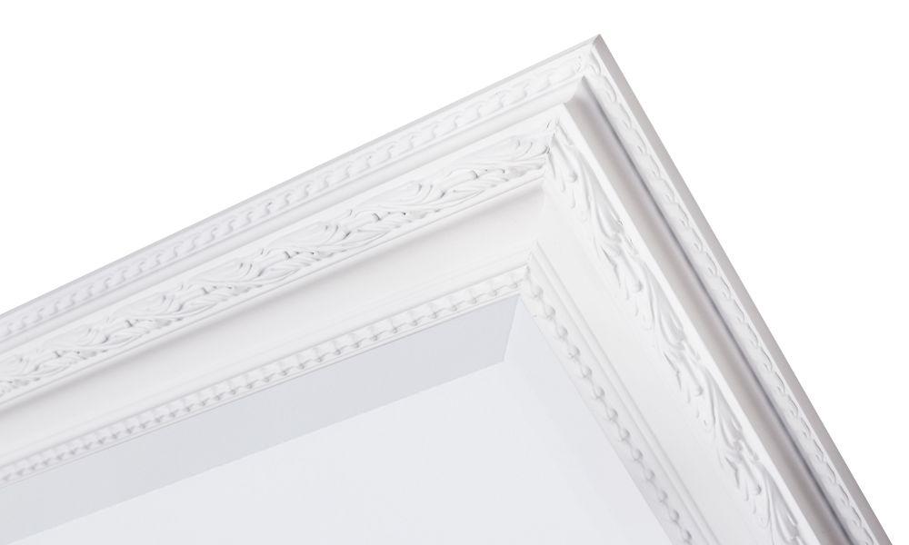 Pizzo Italienischer Spiegel mit weißem Holzrahmen - | KunstSpiegel.de