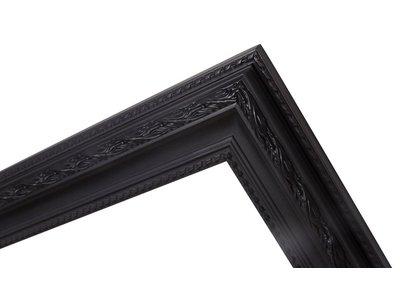 Pizzo Italienischer schwarzer Rahmen