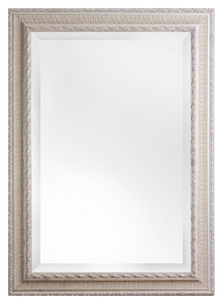 spiegel mit silbernem barock rahmen mit. Black Bedroom Furniture Sets. Home Design Ideas