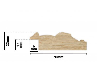 Palmi silberner Holzrahmen mit Details