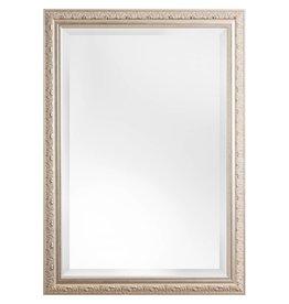Palmi - Facettenspiegel mit silbernem Barock-Rahmen