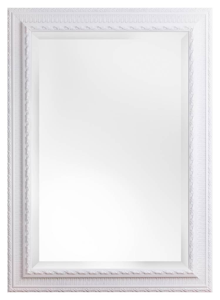 nyons spiegel mit wei em barock rahmen mit ornament. Black Bedroom Furniture Sets. Home Design Ideas