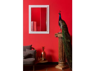 Nyons - Spiegel mit weißem Barockrahmen und Ornament