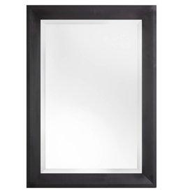 Nantes - Facettenspiegel mit schwarzem Holzrahmen