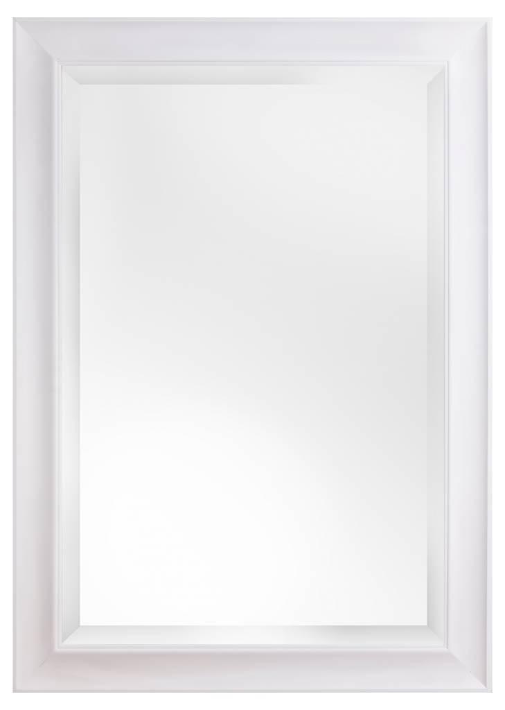 Harlem - Spiegel mit zeitlosem weißen Rahmen