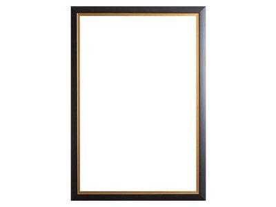 Schwarzer Rahmen mit goldenem Rand