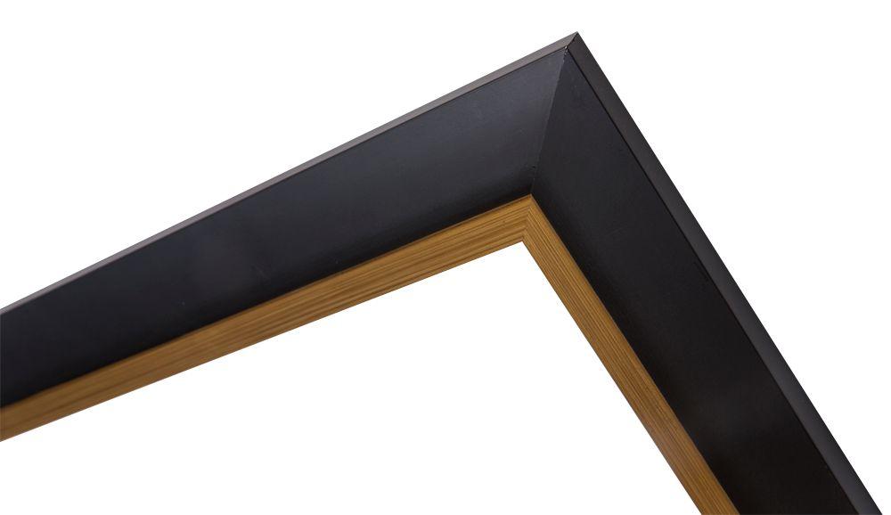 firenze moderner schwarzer rahmen mit goldenem rand. Black Bedroom Furniture Sets. Home Design Ideas