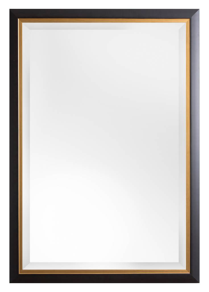 Firenze moderner schwarzer spiegel mit goldenem - Schwarzer barock spiegel ...