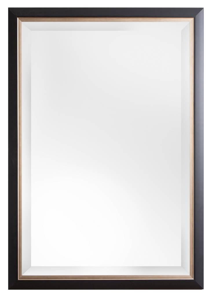 firenze moderner schwarzer spiegel mit silbernem innenrand. Black Bedroom Furniture Sets. Home Design Ideas