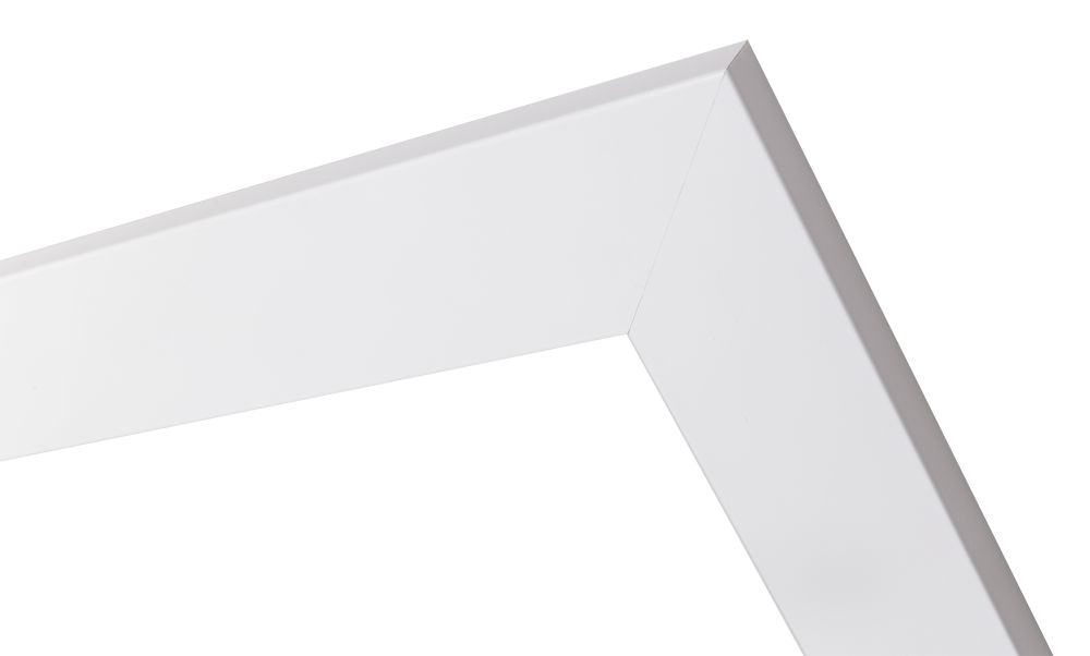 Torino moderner glänzend weißer Rahmen