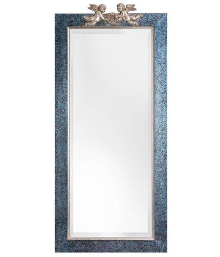 engel spiegel mit blau silbernem rahmen mit engeln. Black Bedroom Furniture Sets. Home Design Ideas