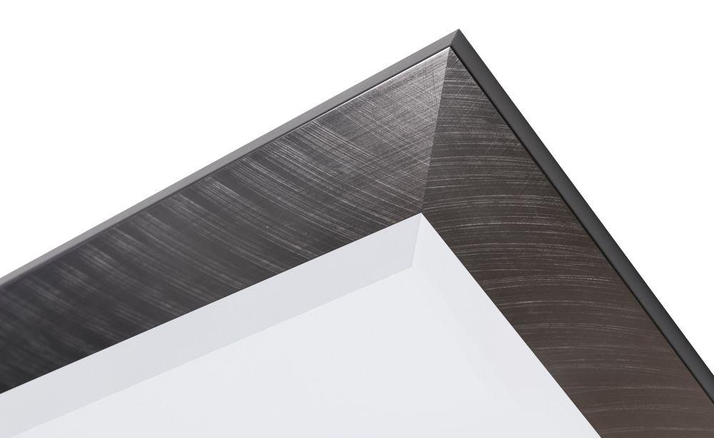 spiegel mit rahmen im edelstahl look. Black Bedroom Furniture Sets. Home Design Ideas
