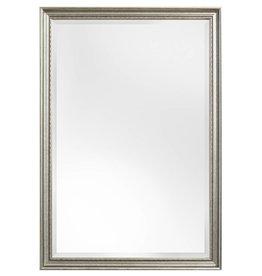 pizzo italienischer spiegel mit wei em silbernen rahmen 129 00. Black Bedroom Furniture Sets. Home Design Ideas