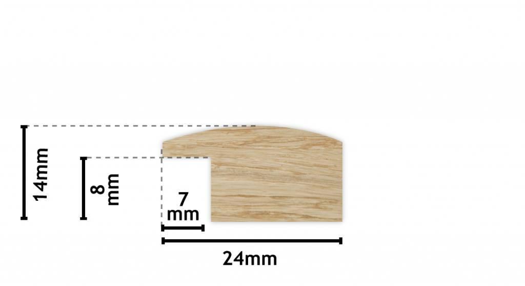 Levie - Weißer Holz-Bilderrahmen