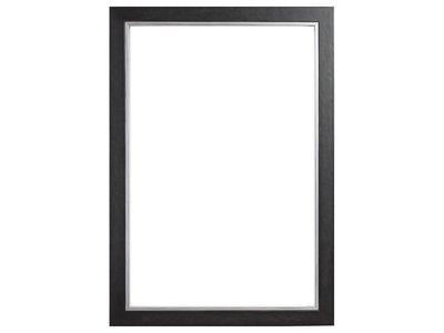 Schwarzer Rahmen mit silbernem Rand