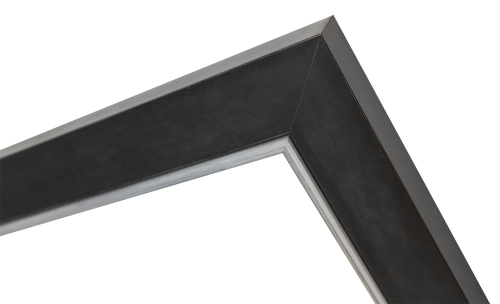 Schwarzer Rahmen mit silbernem Rand - | KunstSpiegel.de