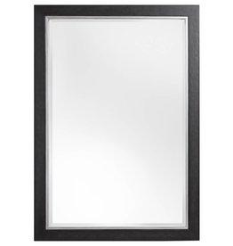 Modena - Luxuriöser moderner schwarzer Spiegel mit silbernem Rand