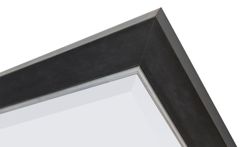 Schwarzer Spiegel mit silbernem Rand