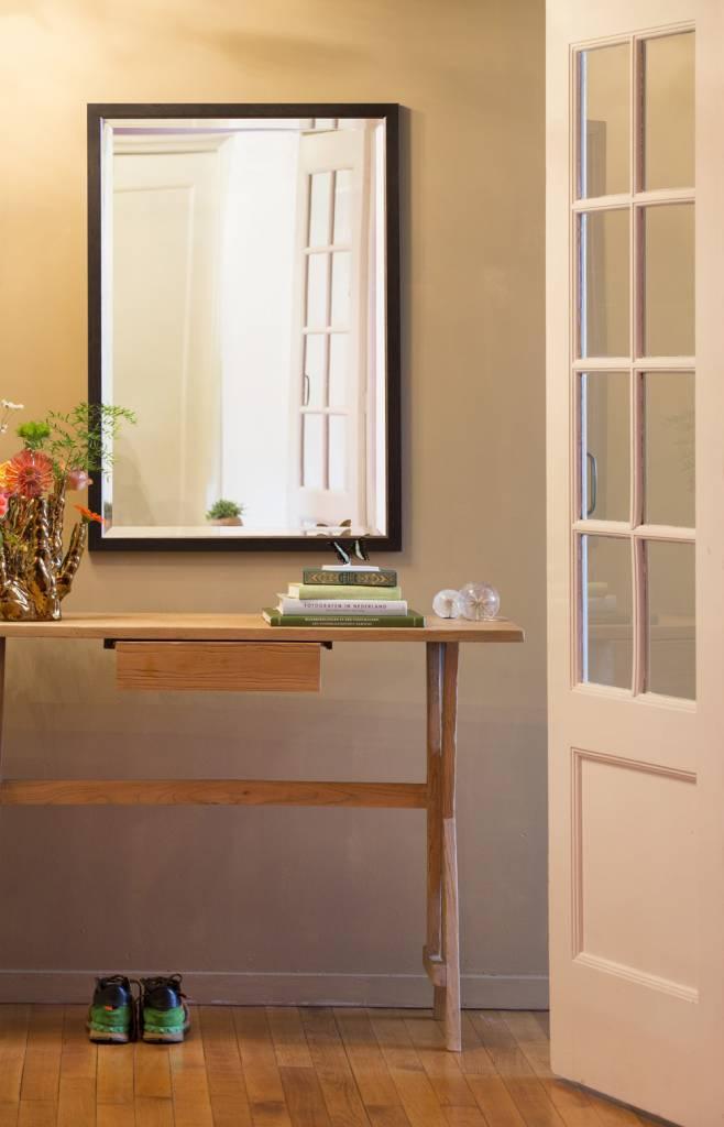 Spiegel Schräg Aufhängen rimini grande spiegel mit dunkelbraun silbernem rahmen