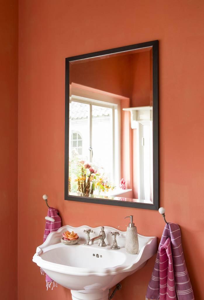 Rimini Grande-Spiegel mit dunkelbraun-silbernem Rahmen ...