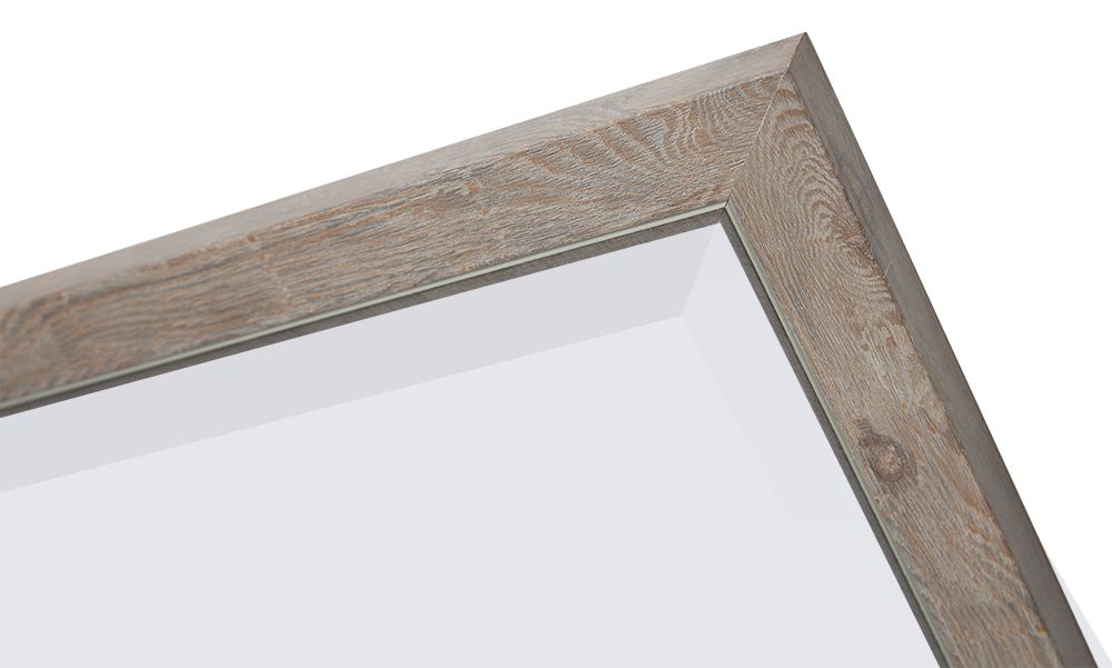 rimini spiegel mit schmalem rahmen hellbraun mit silber. Black Bedroom Furniture Sets. Home Design Ideas