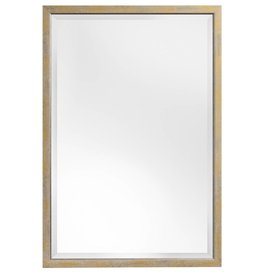 Rimini - Spiegel mit schmalem Rahmen, Gelb mit Silber