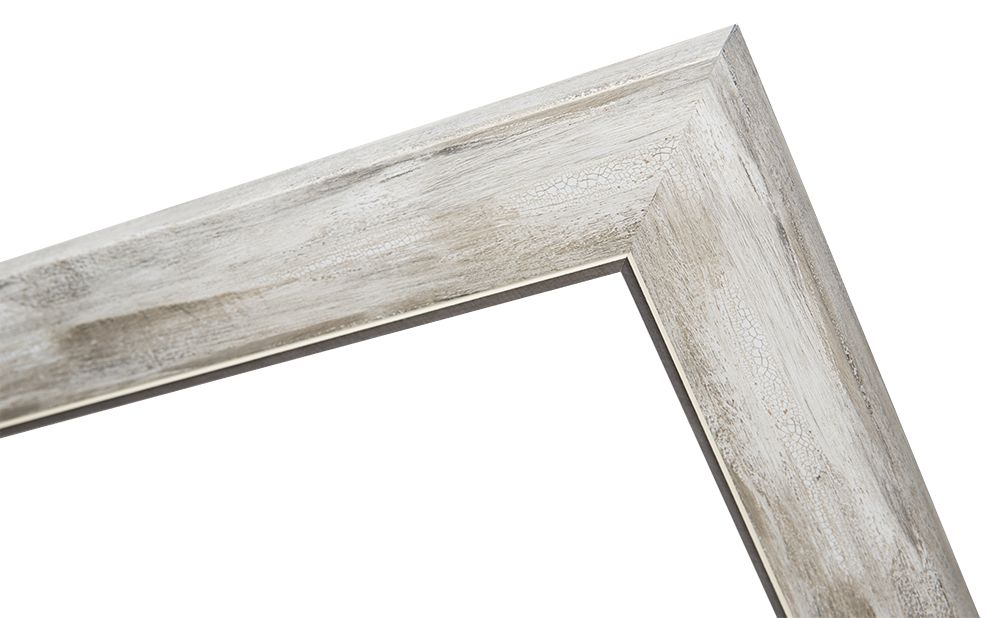 Rimini Grande - Spiegel mit silbergrauem Rahmen