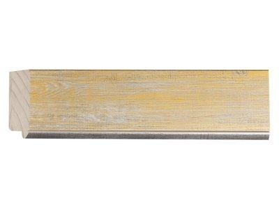 Rimini Grande - Spiegel mit gelb-gold-silbernem Rahmen