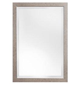 Rimini - Spiegel mit Rahmen, Hellbraun mit Silber