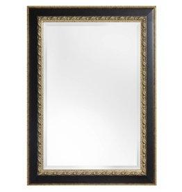Forli - Spiegel mit dunkelbraunem Rahmen (Licht)