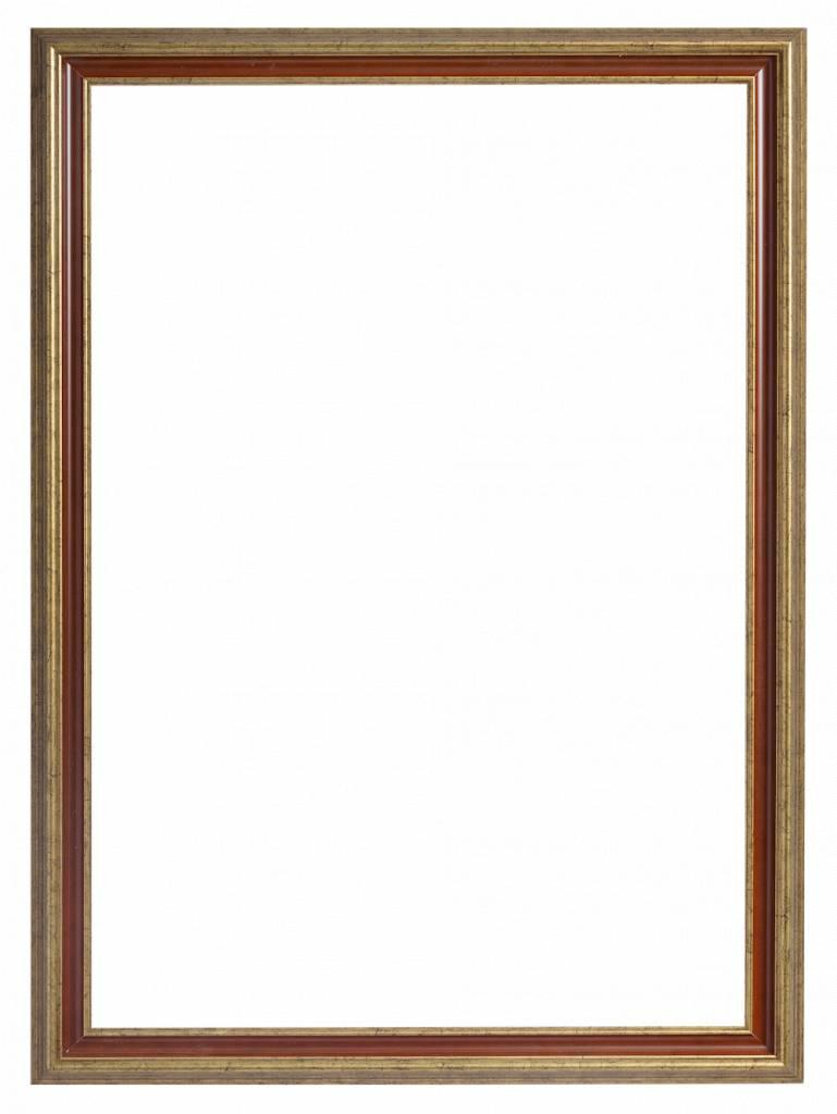 Loano - Spiegel mit großem goldorangefarbenem Rahmen - | KunstSpiegel.de