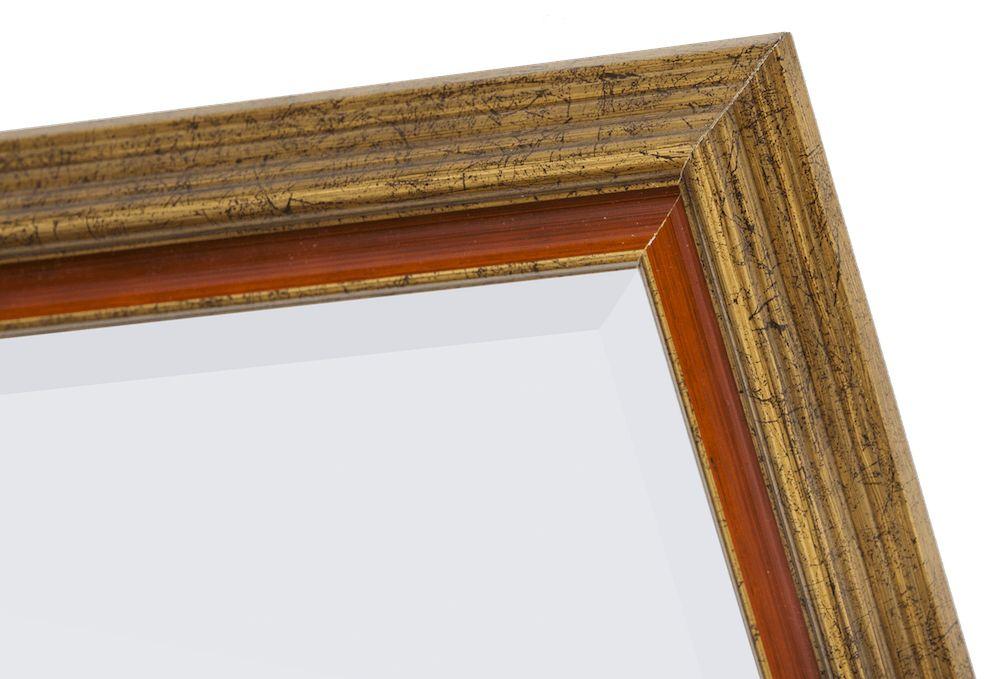 Loano - Spiegel mit großem goldorangefarbenem Rahmen
