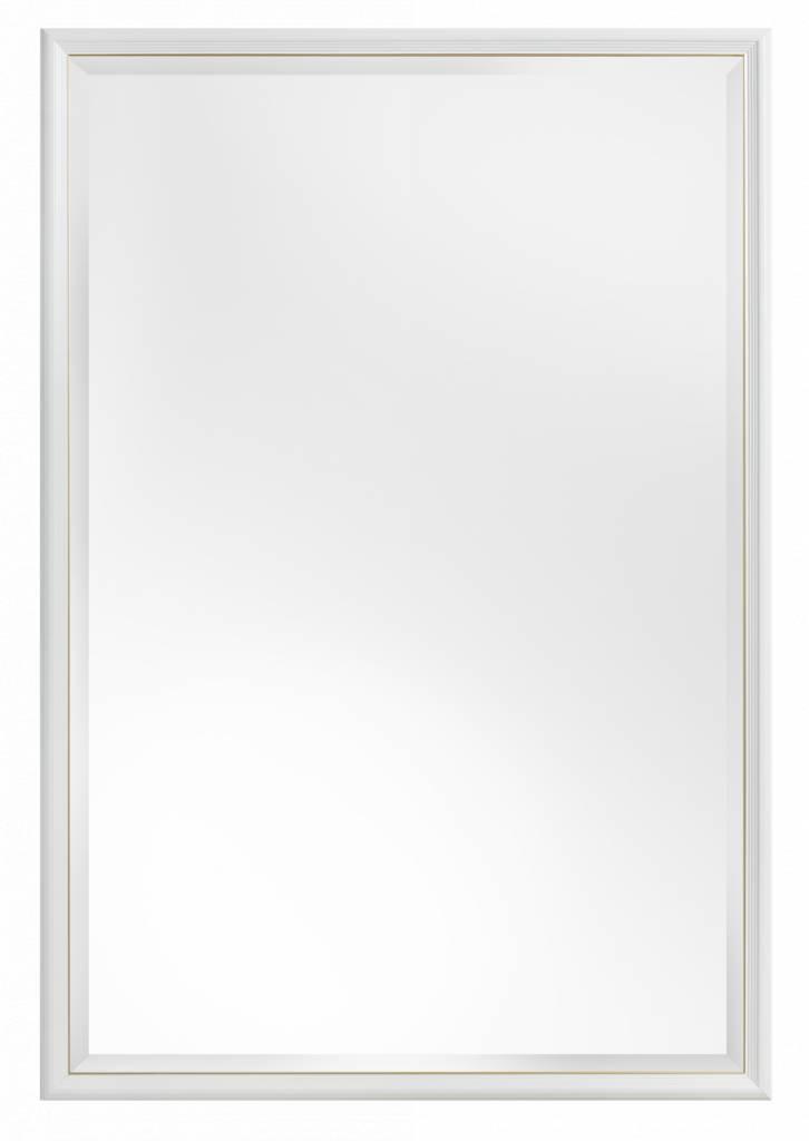 Spiegel mit schmalem weißen Rahmen