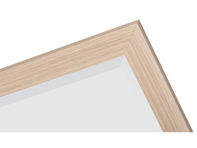 Sardinia Medio - Spiegel mit Rahmen aus hellem Holz