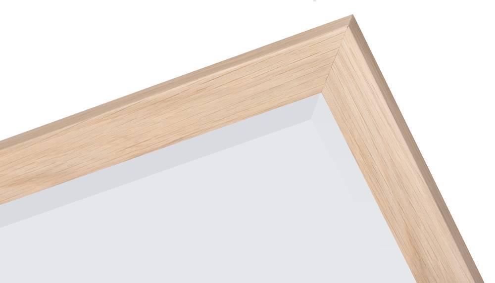 Sardinia Piccolo - Spiegel mit Rahmen aus hellem Holz
