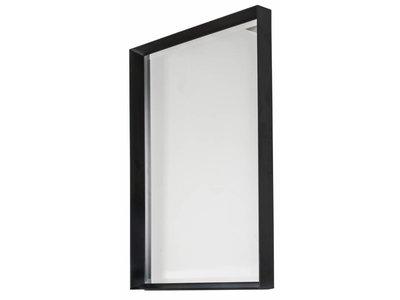 Corsica Grande - Spiegel mit schwarzem Schattenfugenrahmen