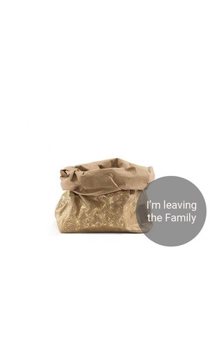 UASHMAMA® Paper Bag Modern Print Naturel/Gold
