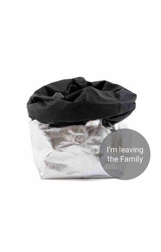 UASHMAMA® Paper Bag Silver/Black
