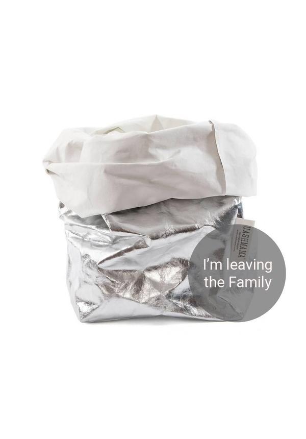 Paper Bag Silver / White