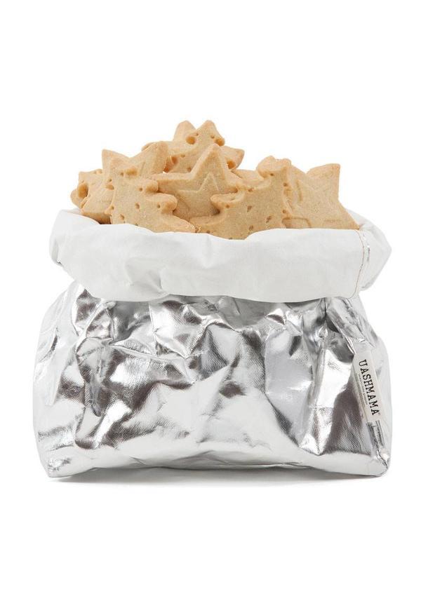 Paper Bag Silver/White