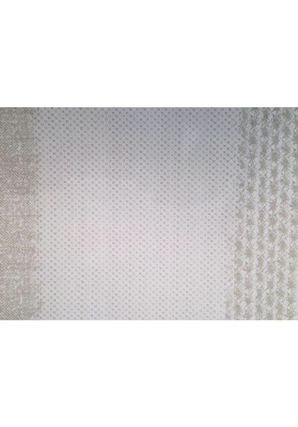 Set de table moderne Imprimer Gris / Blanc