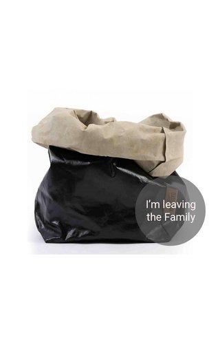 UASHMAMA® Paper Bag Black / Sabbia