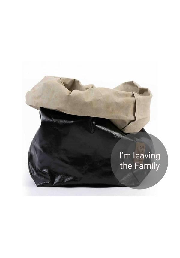 Paper Bag Black/Sabbia