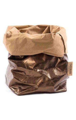 UASHMAMA® Sac de papier naturel / Bronze