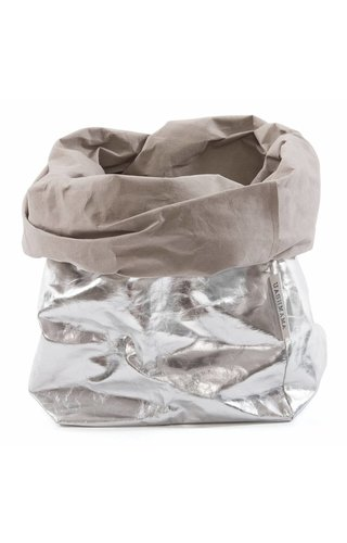 UASHMAMA® Paper Bag Silver/Grey