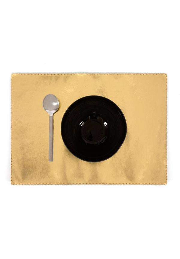 Gold placemat