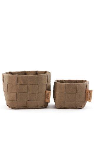 UASHMAMA® Paper Bag Intrecciato Large Basic